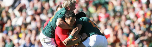 Sonny Parker takes a South African double whammy from Jean de Villiers and Adrian Jacobs