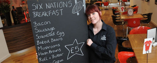 Enjoy a traditional breakfast at the WRU Café bar for £5