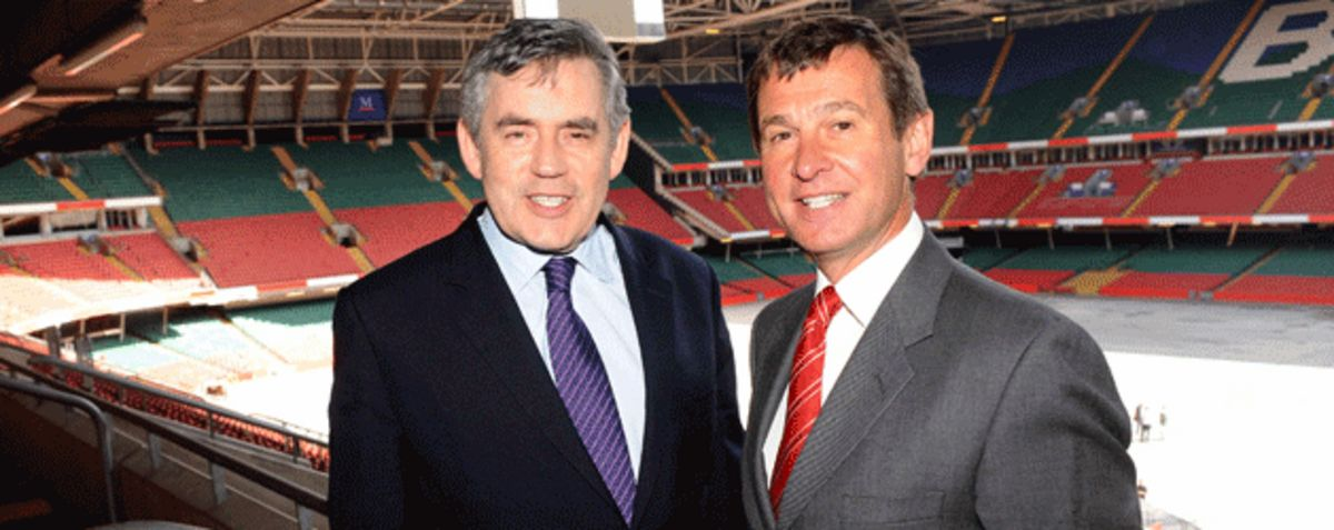 Primer Minister Gordon Brown and Roger Lewis