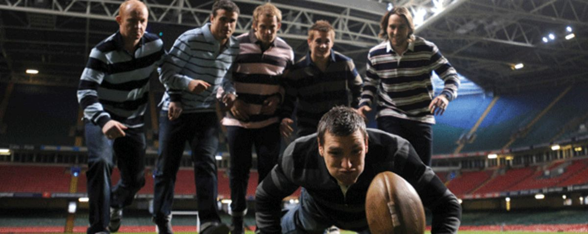 Wales players in Eden Park attire