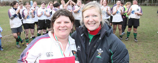 Dee Evans with Nicola Smith