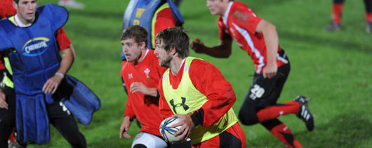Ryan Jones training