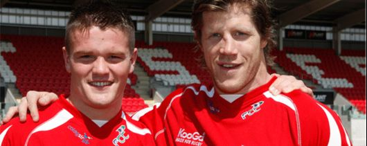 Travis Knoylte and Simon Easterby