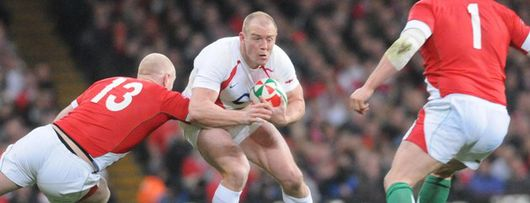 Mike Tindall in action against Wales