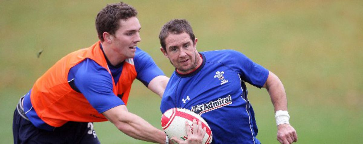 George North (left) Shane Williams (right)