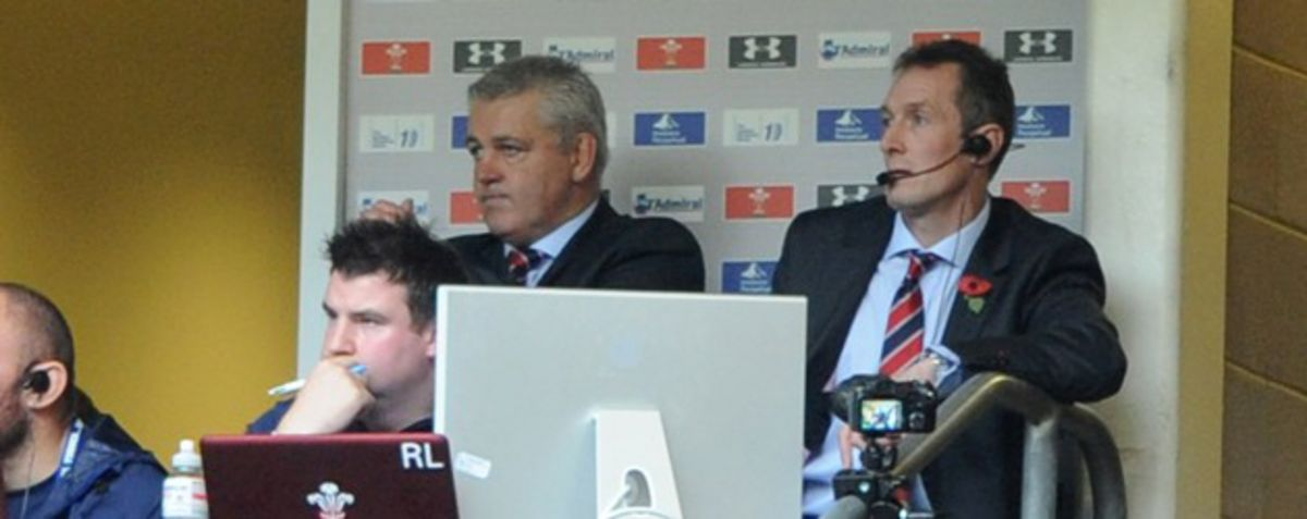 Warren Gatland watches on