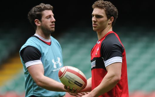 George North and Alex Cuthbert