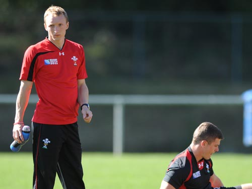 John Ashby during a Rugby World Cup 2011 training session