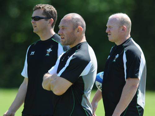 Robin McBryde takes a Wales training session during his tenure in charge as Caretaker Coach in 2009
