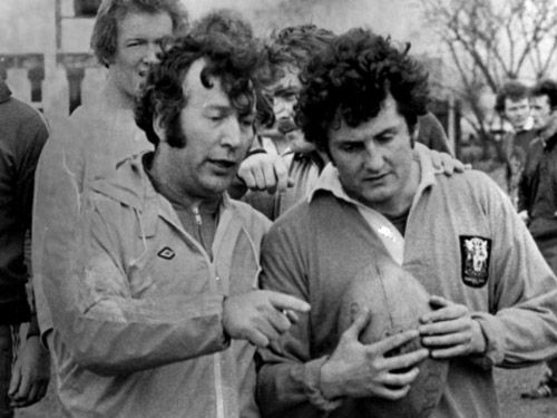 John Dawes with a young Alan Phillips at Cardiff