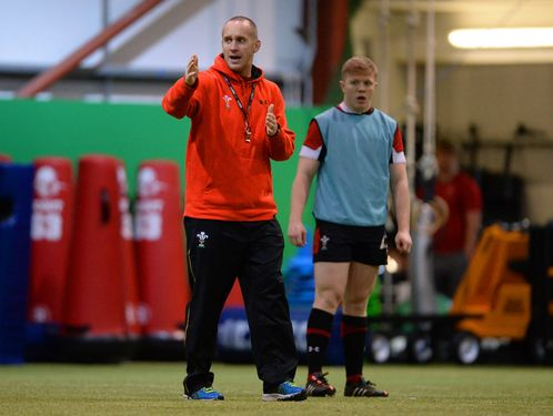 Richard Hodges trains Wales U20s