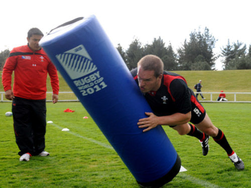 Prav Mathema puts Gethin Jenkins through his paces.